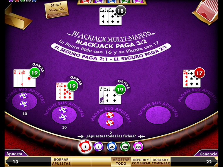Blackjack Multi Manos
